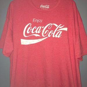 Vintage Coca-Cola Logo Red T Shirt 3XL